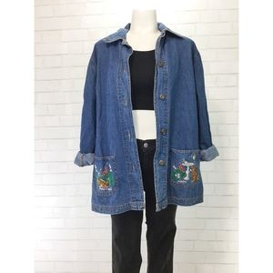 Vintage 90's Blair Oversized Cat Pocket Jacket Top